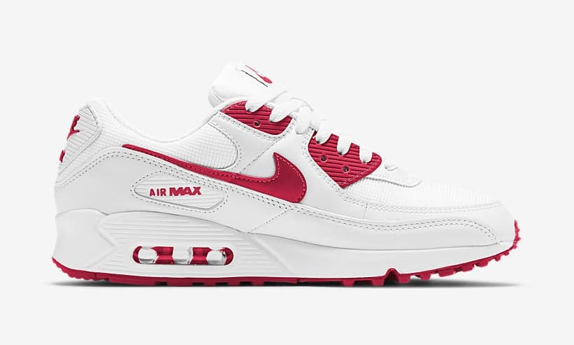 """Nike Air Max 90 """"White/ Red"""" (CT1028-101)"""
